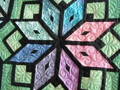 Sandy's Starburst....quilted by Charisma