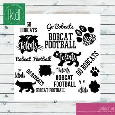 Digital Download includes SVG, DXF, JPEG, PNG and Commerical License - Bobcat Mascot Pack #bobcatsvg #gobobcats #bobcatmascot