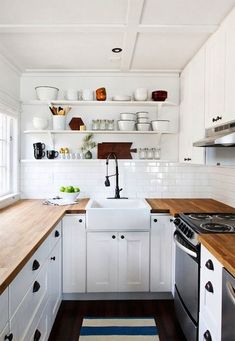 white and wooden palette for kitchen