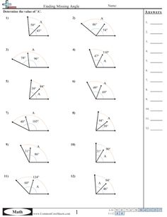 Complementary Angles | Worksheets, Math and Geometry