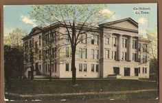 1907~Chattanooga TN~CENTRAL HIGH SCHOOL~ANTIQUE Tennessee POSTCARD My mother went there  along with Luther, Luther was 2 yrs ahead of her. Lookout Mountain Tennessee, Chattanooga Tennessee, Us History, Luther, Postcards, High School, Middle, Memories, Mansions