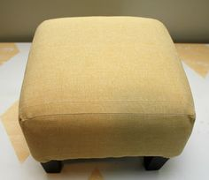 simple recovered footstool