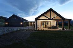 Home on the range House Image 2 size Facade House, House Roof, Courtyard House, Brunswick House, Modern Barn House, Gable House, Modern Farmhouse Exterior, Steel House, The Ranch
