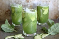 Cucumber Mint Gin Coolers. You can also muddle or smash opposed to using blender