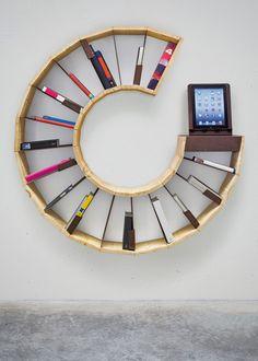 Sara-Bergando-circular-segments-book-shelving - 60 Creative Bookshelf Ideas  <3 <3