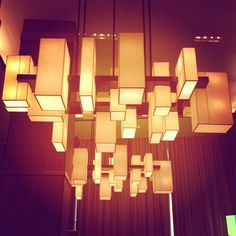 Lighting decor for our event space at Trump SoHo New York City - Courtesy of @Ryannewyork