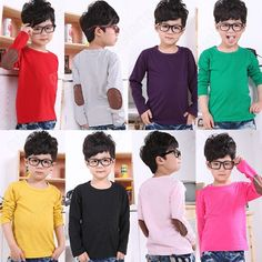 Discount China china wholesale Korean Loose Cute Casual Patch Kids Boys Girls Toddlers Long Sleeve T-Shirt 2-7 Years [60054] - US$6.24 : DealsChic