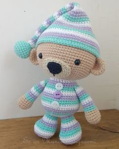 Watch This Video Incredible Crochet a Bear Ideas. Cutest Crochet a Bear Ideas. Crochet Animal Patterns, Stuffed Animal Patterns, Amigurumi Patterns, Crochet Animals, Amigurumi Doll, Doll Patterns, Crochet Teddy, Crochet Bear, Love Crochet