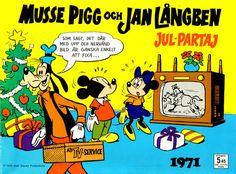 Cover for Musse Pigg och Jan Långben [julalbum] (Åhlén & Åkerlunds, 1957…