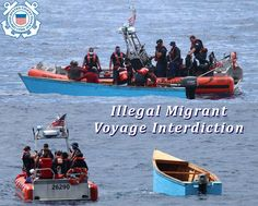 The crew of the Coast Guard Cutter Robert Yered cutter boat is on scene with an illegal migrant voyage interdicted with 12 people onboard near Aguadilla, Puerto Rico. Patriotic Poems, Coast Guard Cutter, Puerto Rico, United States, Scene, Boat, America, People, Travel