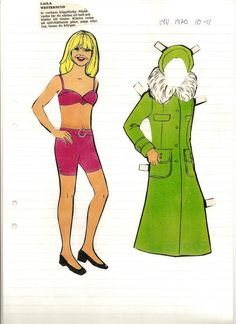 Swedish paper doll of Laila Westersund, actress. / maggansklippdockor * 1500 free paper dolls from artist Arielle Gabriel The International Paper Doll Society for Pinterest paper doll pals *