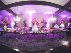 Decoração de casamento com a cor rosa. Lindo! --- Wedding deccor with pink color. Beautiful!