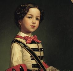 Luis de Madrazo y Kuntz (yet another member of the Madrazo dynasty): Cristina de Roncali y Gaviria, the little Marquise of Roncali. Details. Madrid, Museo Lázaro Galdiano. source: Google Art Project.