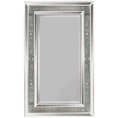 "Venetian Antiqued Glass Frame 36"" High Wall Mirror 