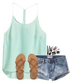 """""""~Saturday is gonna be GREAT~"""" by simply-natalee ❤ liked on Polyvore featuring H&M, Abercrombie & Fitch, Billabong, GHD, beautyblender, NARS Cosmetics, Bobbi Brown Cosmetics, MAC Cosmetics and Essie"""