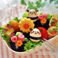 Bento Friday: Kawaii Bento Box Ideas for Xmas Japanese Food Art, Japanese Lunch Box, Japanese Meals, Kawaii Bento, Cute Bento Boxes, Bento Box Lunch, Rilakkuma, Cute Food, Good Food