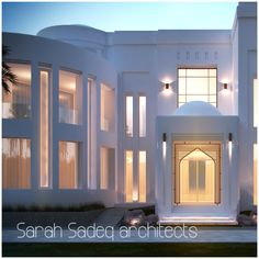 2000 m soon Kuwait New Modern House, Small Modern Home, Modern House Plans, Modern House Design, Mosque Architecture, Modern Architecture House, Architecture Design, French Exterior, Courtyard House Plans