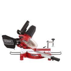 General International 15 Amp 10 in. Sliding Miter Saw with Laser Guidance - The Home Depot Sliding Mitre Saw, Minimalist Graphic Design, Poster Design Layout, Carpentry Projects, Wood Carving Tools, Power Hand Tools, Artists For Kids, Miter Saw