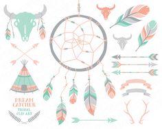 Menta verde pálido rosado el cazador de sueños por GrafikBoutique