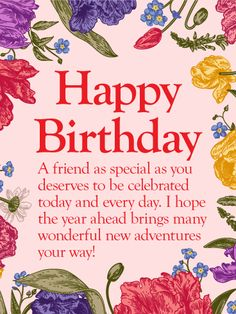 To my lovely friend happy birthday wishes card another fabulous send free to my special friend happy birthday wishes card to loved ones on birthday greeting cards by davia its free and you also can use your own m4hsunfo