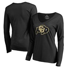 Colorado Buffaloes Fanatics Branded Women's Primary Logo Long Sleeve T-Shirt - Black