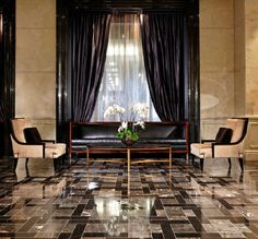 Trump International Hotel Lobby Black and Gold Luxury
