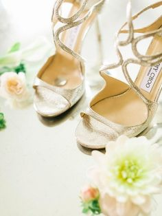 Wedding Shoe Ideas: Jimmy Choo and six pence in her shoe