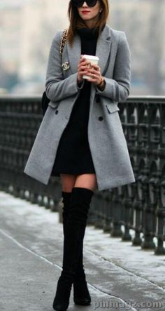 Ideas Party Outfit Casual Black Fashion Ideas For 2019 Winter Outfits Women, Casual Winter Outfits, Winter Fashion Outfits, Classy Outfits, Trendy Outfits, Trendy Fashion, Autumn Fashion, Fashion Trends, Fashion Boots