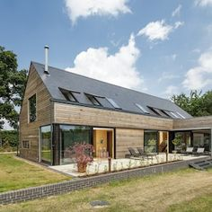 Revealed: the UK's best self-build homes of 2018 An old stone farmstead with a striking modern extension by Loch Lomond House Plans Uk, Metal House Plans, A Frame House Plans, Kit Homes Uk, Cabin Kit Homes, Shed Homes, Prefab Homes Uk, Prefab Houses, Timber House