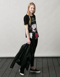 Printed - T- Shirts - WOMAN - Woman - Bershka United Kingdom