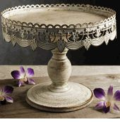 """White Metal 10"""" Pedestal Cake Stand  $15 - link to Save On Crafts website. Discounts galore!!!!"""