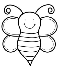 abeja Coloring Pages, Colouring, Activities, 3 Years, Fun, Indian Embroidery, Print Coloring Pages, School Children, Bees