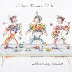 Cards » Ladies Flower Club » Ladies Flower Club - Berni Parker Designs