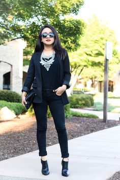 All Black via www.jessicafashionnotes.com