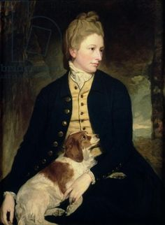 George Romney - before Pinterest I never realized how many people had their portraits painted with their dogs.