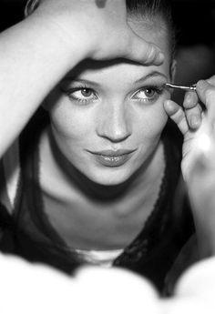 Backstage magic, Kate Moss