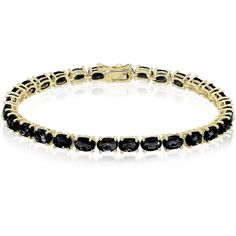 Dolce Giavonna Sterling Silver Oval Gemstone Tennis Style Bracelet ($53) ❤ liked on Polyvore featuring jewelry, bracelets, blue, bracelet bangle, sterling silver bracelet bangle, polish jewelry, clasp bracelet y oval bangle