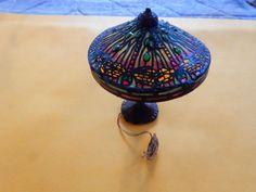1:12 Vintage IGMA Artisan Kummerow Incredible Jeweled Table Lamp #1