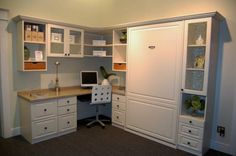 Murphy bed idea, this way wouldnt need another room for guest... I could have more room for my craft stuff :)