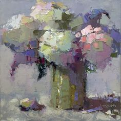 Hydrangeas and Lilacs by Trisha Adams Oil ~ 12 x 12 Hydrangea Painting, Oil Painting Flowers, Abstract Flowers, Lilacs, Hydrangeas, Pink Hydrangea, Selling Paintings, Arte Floral, Painting Inspiration