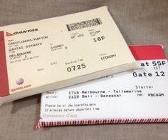 Mini almofada bilhete de passagem
