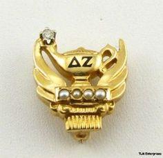 Our beautiful Delta Zeta badge