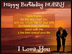 Romantic Birthday Wishes For Husband (Happy Birthday Wishes For Husband on cake) Birthday Message For Husband, Wishes For Husband, Birthday Wish For Husband, Birthday Wishes For Boyfriend, Happy Husband, Love Husband Quotes, Romantic Birthday Messages, Birthday Wishes Messages, Romantic Poems