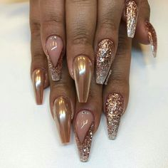 There are most popular designs for coffin nails in our gallery. Find out which designs are the most complementary for coffin nails and recreate your favorite ones. Check out our trendy ideas and get inspired. Beautiful Nail Art, Gorgeous Nails, Pretty Nails, Prom Nails, My Nails, Chic Nail Designs, Design Ideas, Nailart Glitter, Nail Design