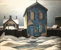 Lawren Harris - Grey Day in Town, Group of Seven Painter
