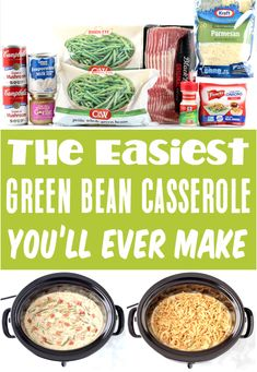 Slow Cooker Green Bean Casserole Recipes! Simple holiday sides that taste AMAZING are always a win-win! And this savory side dish is always the hit of the meal! Go grab the recipe so you have it on hand for the holidays!