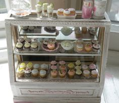 Miniature Stunning Shabby Chic Bakery Counter.