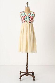 Contrasting Halves Dress #anthropologie