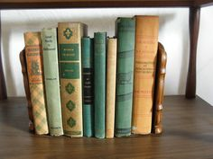 (For library wine section) Golden Earth tone  Vintage Books for by LonestarVintageFinds, $32.00