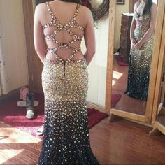 Size 6 Jaaz couture prom dress. Only worn once! Straps shortened and black added on neckline. In excellent condition. jaaz couture Dresses Backless